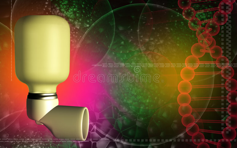 Download Inhaler Used By Asthma Patients Stock Image - Image: 6223641