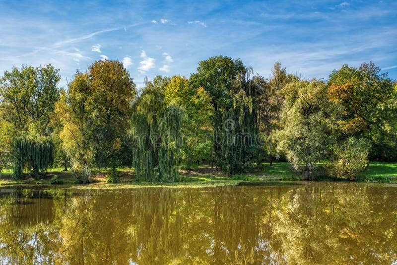Inham, schoonheid van de herfst stock fotografie