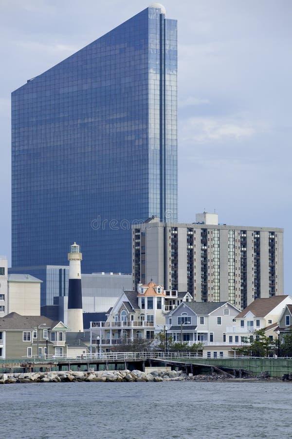 Inhamgebied van Atlantic City, New Jersey stock foto
