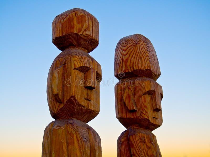 Inheems beeldhouwwerk royalty-vrije stock afbeelding