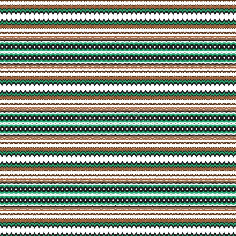 Inheems Etnisch Stammen Geometrisch Naadloos Uniek Koel Patroon Als achtergrond stock illustratie