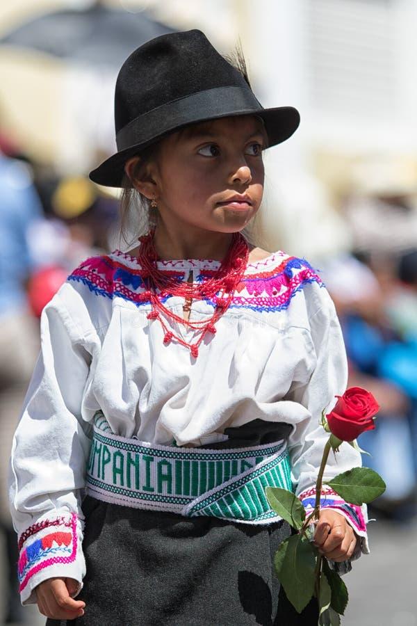 Inheems quechua meisje stock foto