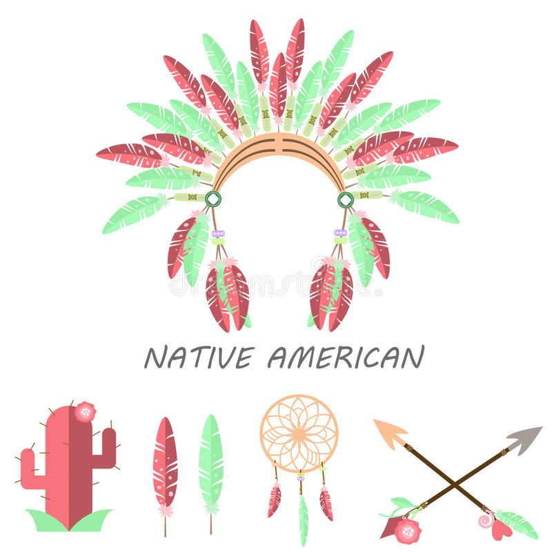Inheemse Amerikaan royalty-vrije illustratie