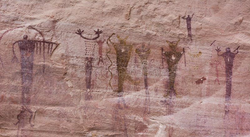 Inheemse Amerikaanse Beeldschrifttekens royalty-vrije stock afbeeldingen