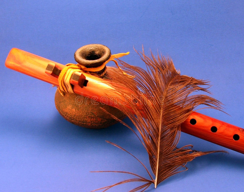 Inheemse Amerikaanse Fluit royalty-vrije stock afbeeldingen