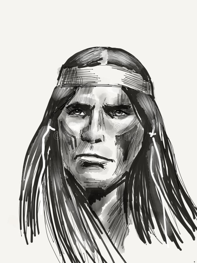 Inheemse Amerikaanse leider royalty-vrije stock afbeelding