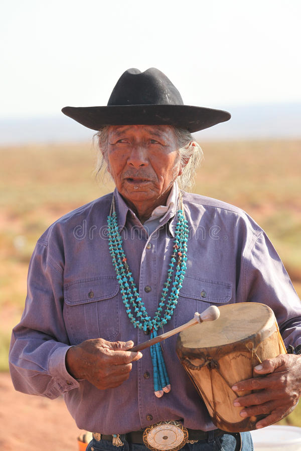 Inheemse Amerikaanse mens royalty-vrije stock foto's