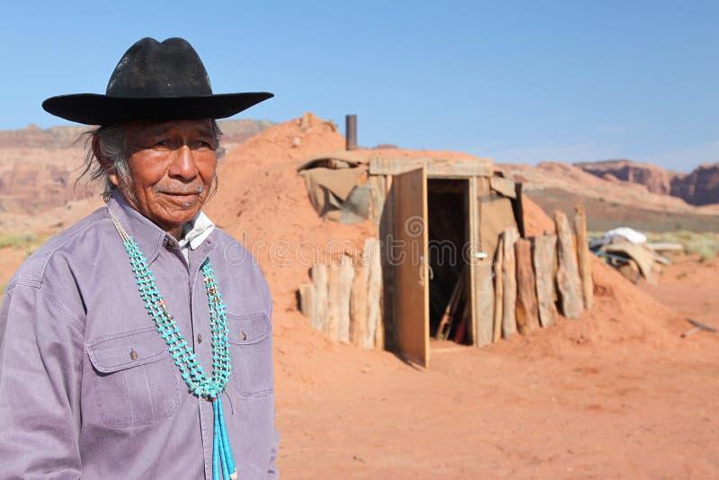 Inheemse Amerikaanse mens royalty-vrije stock afbeelding