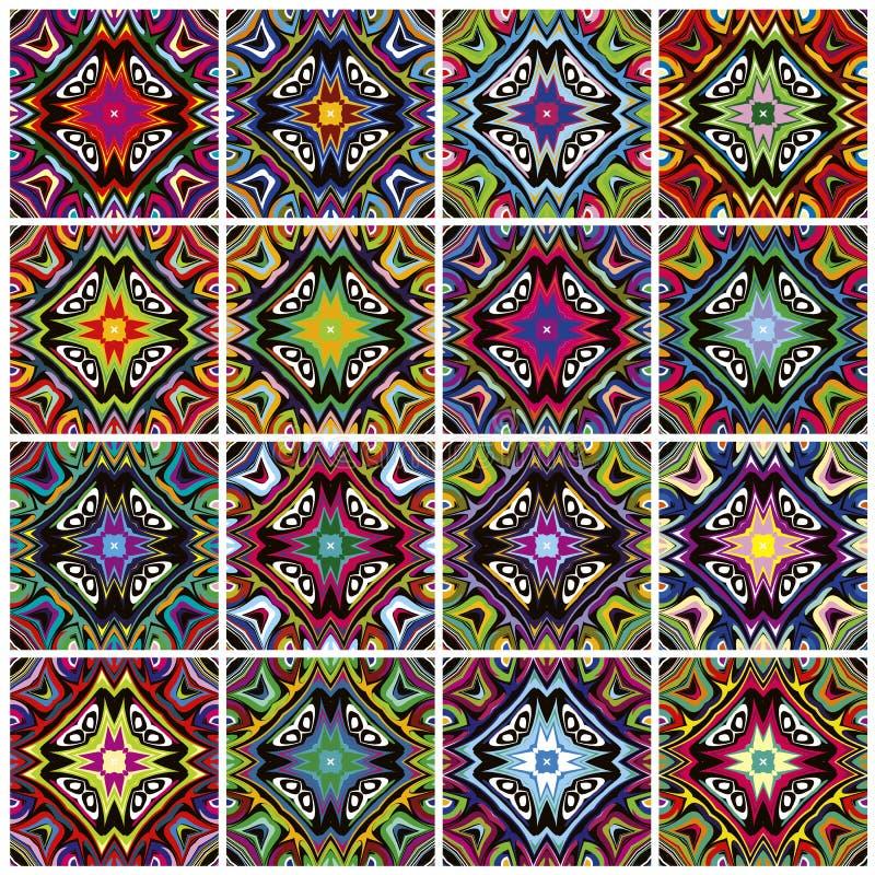 Inheemse Amerikaanse patronen vector illustratie