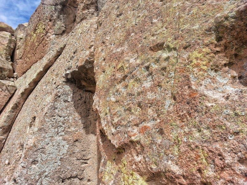 Inheemse Amerikaanse rotstekening Tsankawe New Mexico stock fotografie