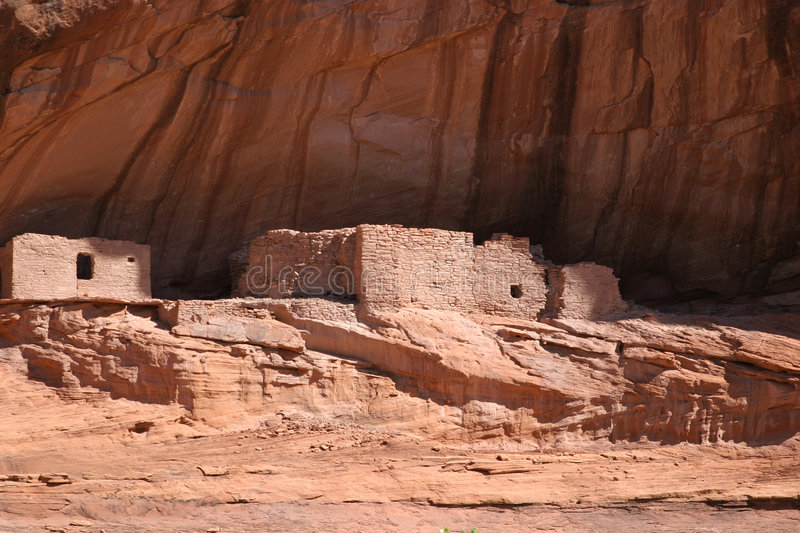 Inheemse Amerikaanse ruïnes in Canyon DE Chelly royalty-vrije stock foto's