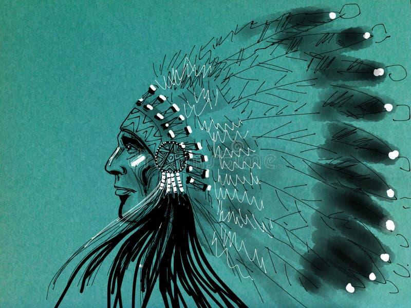 Inheemse Amerikaanse whit adelaar stock fotografie