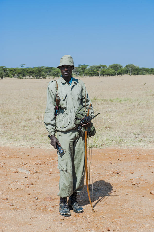Inheemse Bosjesman in Afrika royalty-vrije stock foto's