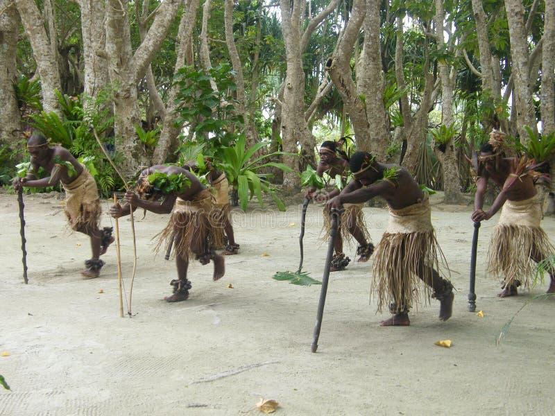 Inheemse dansers in Vanuatu royalty-vrije stock foto