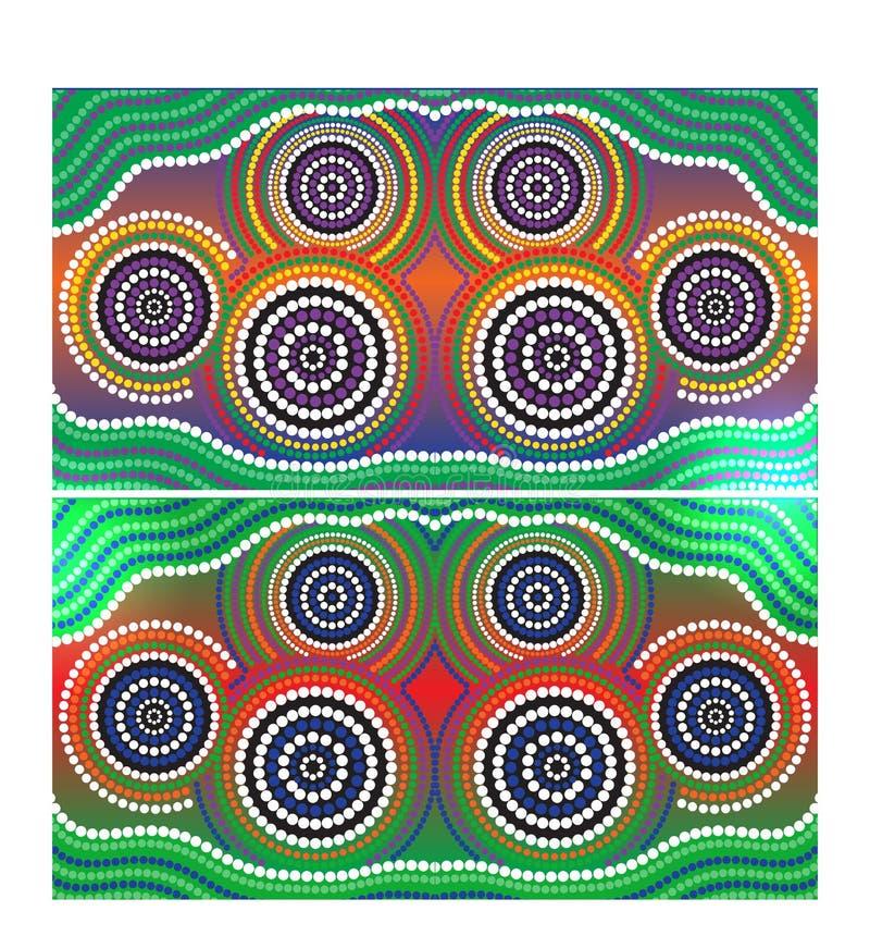 Inheemse de kunst vectorachtergrond van Australië stock illustratie