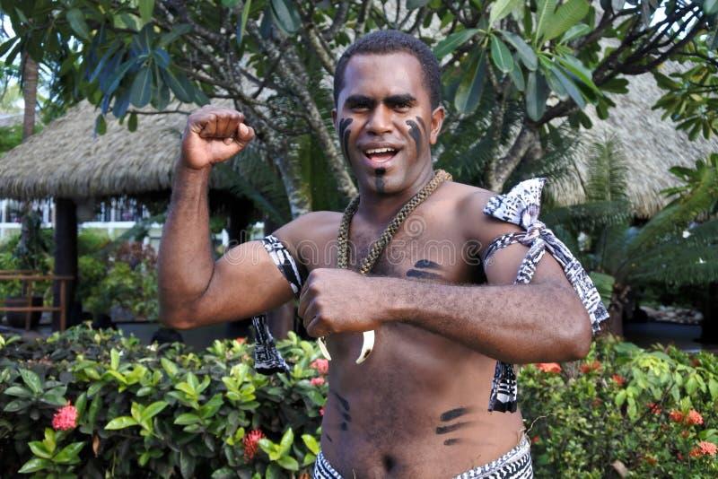 Inheemse Fijian-groet hello Bula stock afbeelding