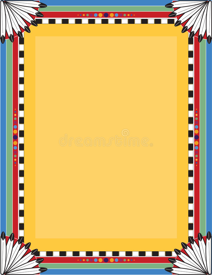 Inheemse Grens royalty-vrije illustratie