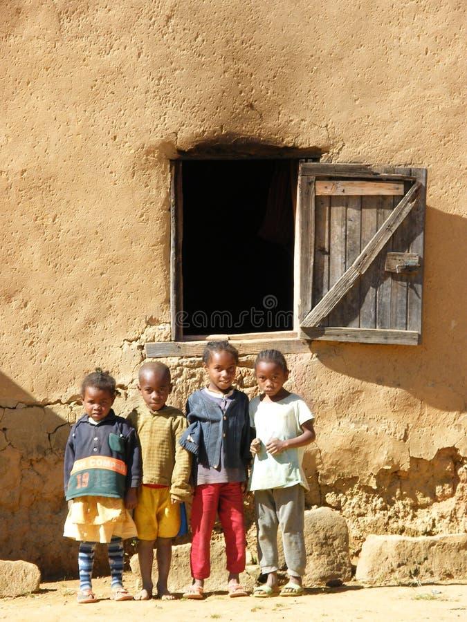 Inheemse Kinderen Van Madagascar stock afbeelding