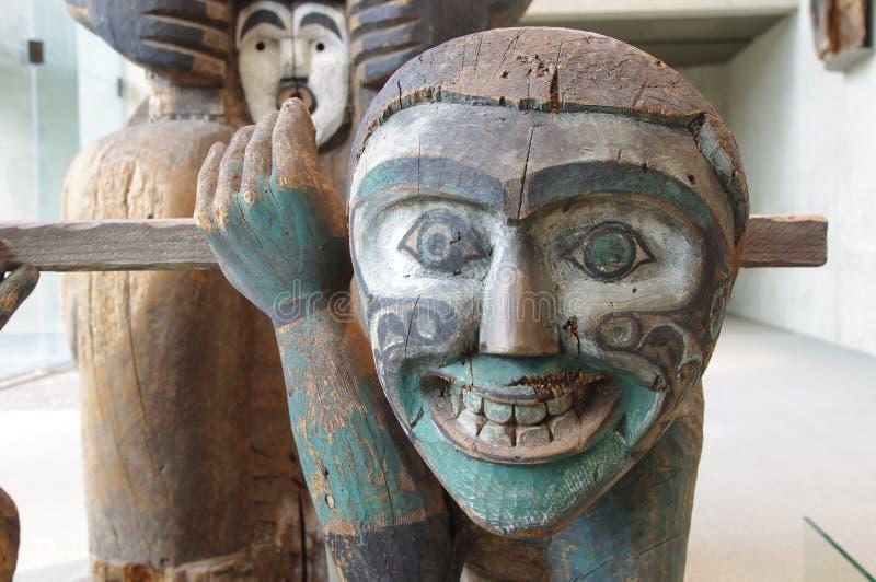 Inheemse kunstvertoning bij Museum van Antropologie stock foto