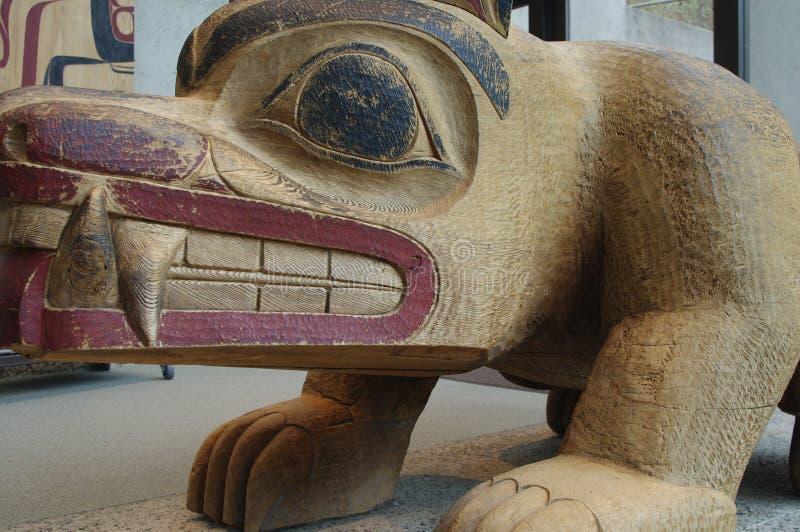 Inheemse kunstvertoning bij Museum van Antropologie stock foto's