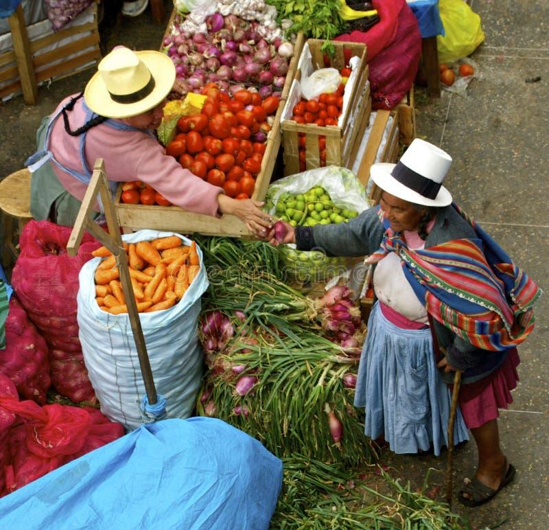 Inheemse markt Urubamba, Peru stock afbeelding