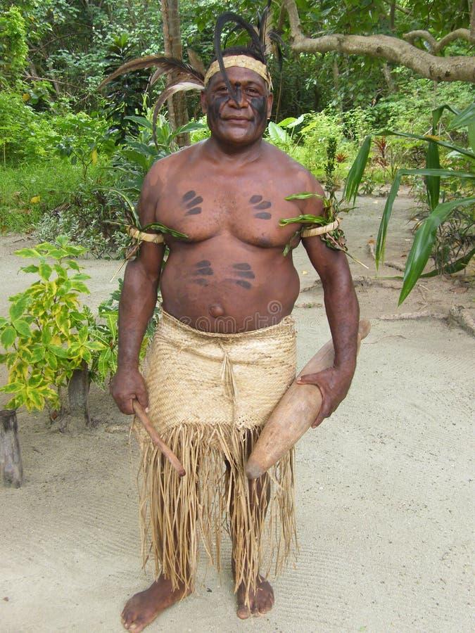 Inheemse mens in Vanuatu royalty-vrije stock fotografie