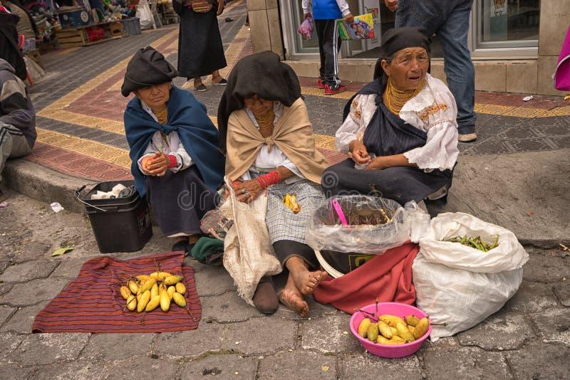Inheemse quechua vrouwen royalty-vrije stock afbeeldingen