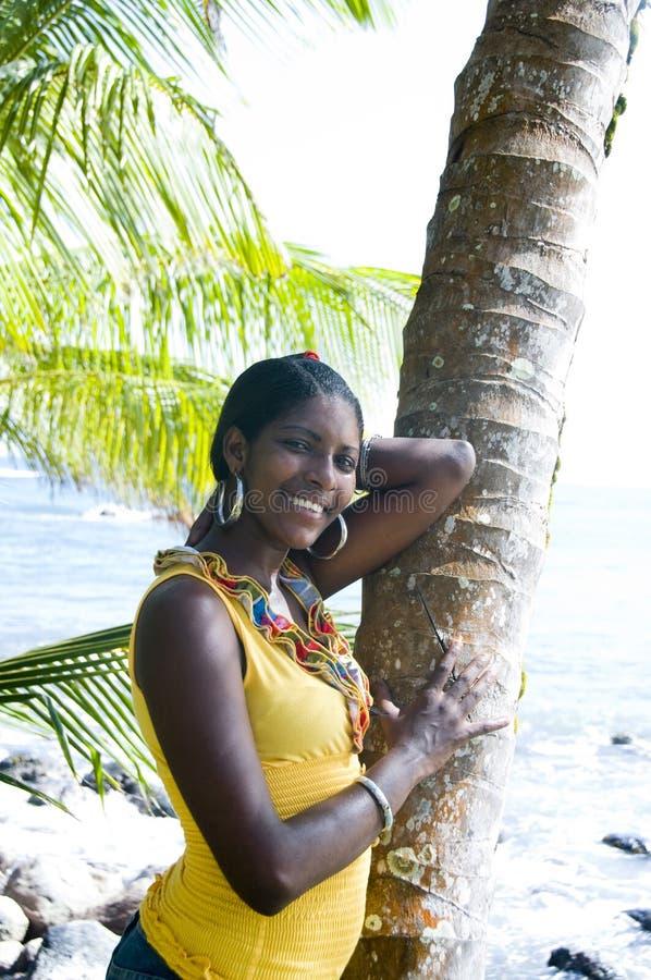 Inheemse vrij jonge vrouw Nicaragua stock afbeelding