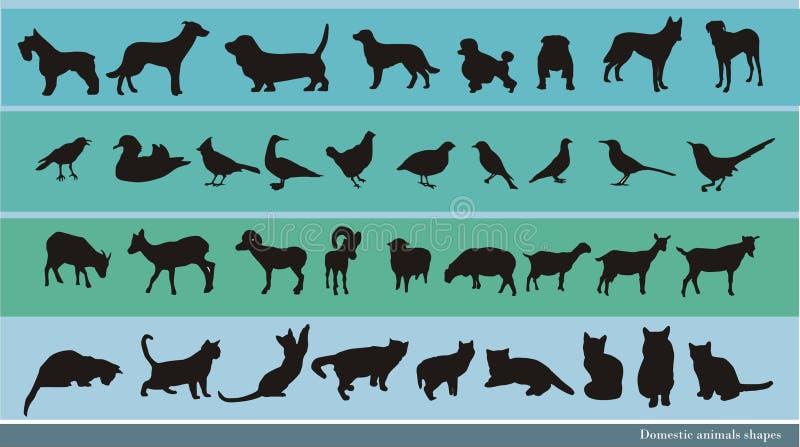 inhemska djur vektor illustrationer