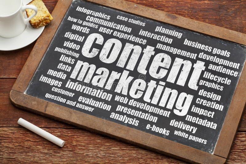 Inhoud Marketing royalty-vrije stock afbeeldingen