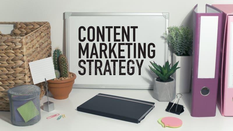 Inhoud Marketing royalty-vrije stock foto's