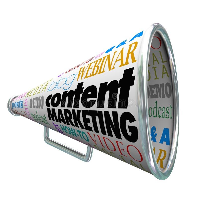 Inhoud Marketing de Megafoonmegafoon overtreft stock illustratie