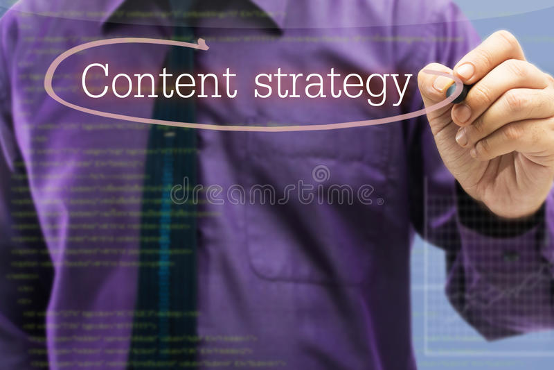 Inhoudsstrategie royalty-vrije stock foto