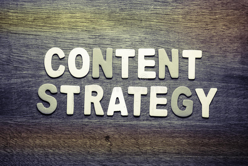 Inhoudsstrategie stock afbeeldingen