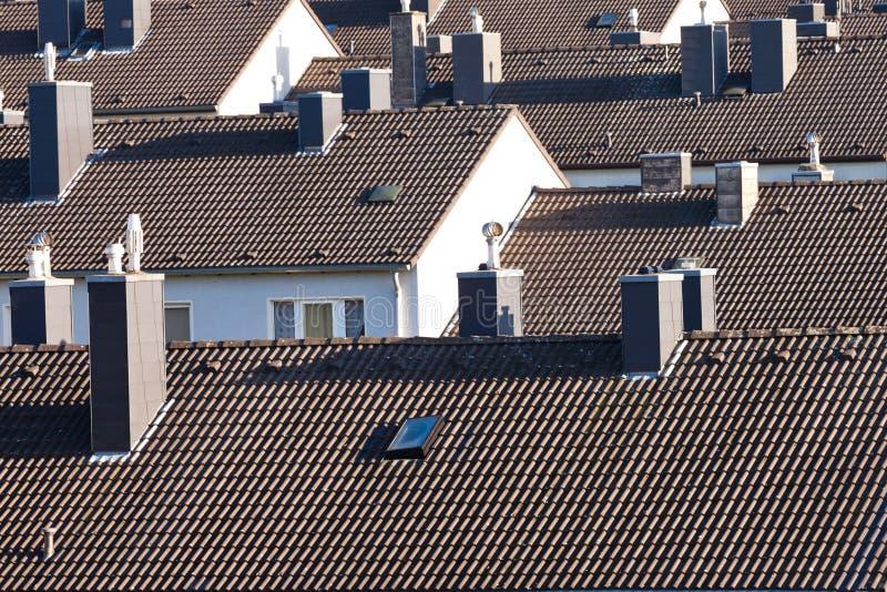 Inhysa för kvarter för stads- kick-täthet condo byggande arkivfoton