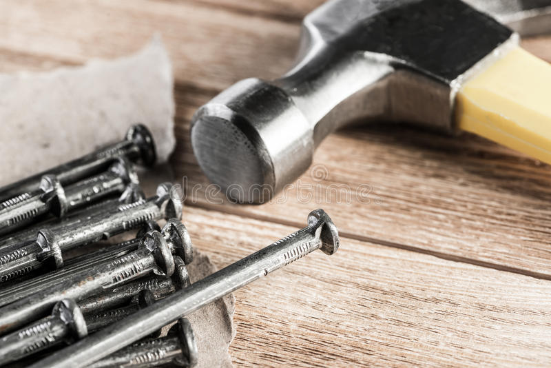 Inhysa och hem- reparation royaltyfri bild