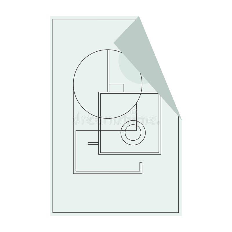 Inhysa symbolen för golvplanet för ui eller app vektor royaltyfri illustrationer