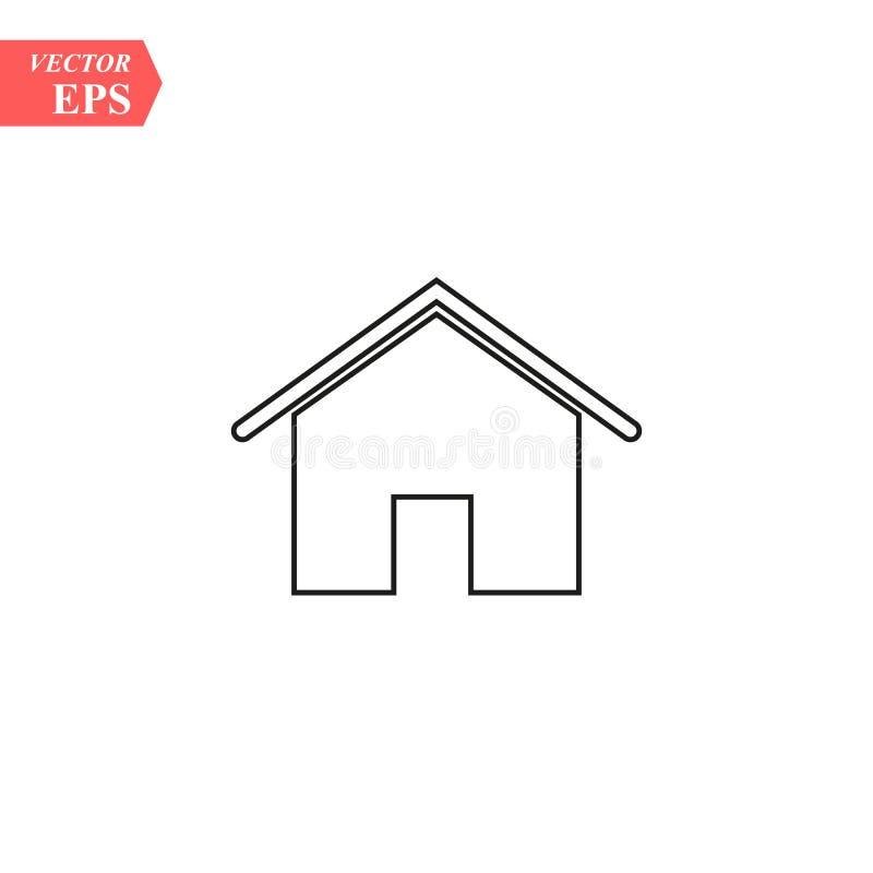 Inhysa symbolen med dörren, översiktsdesignvektor royaltyfri illustrationer