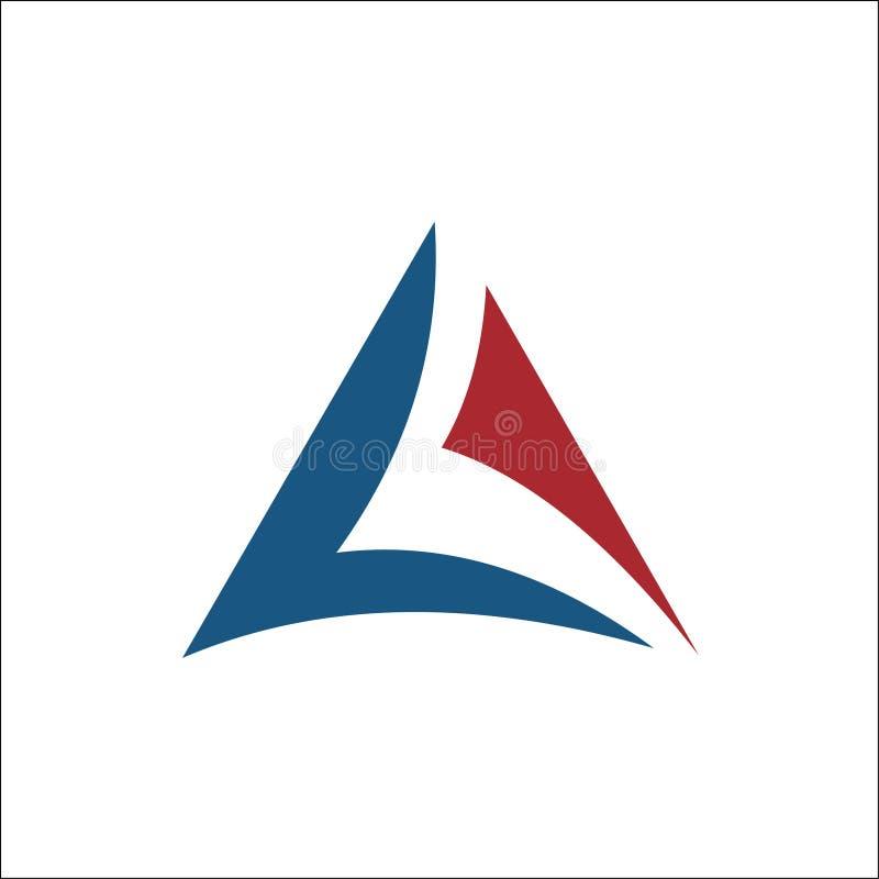Iniciais um vetor do logotipo do triângulo ilustração royalty free