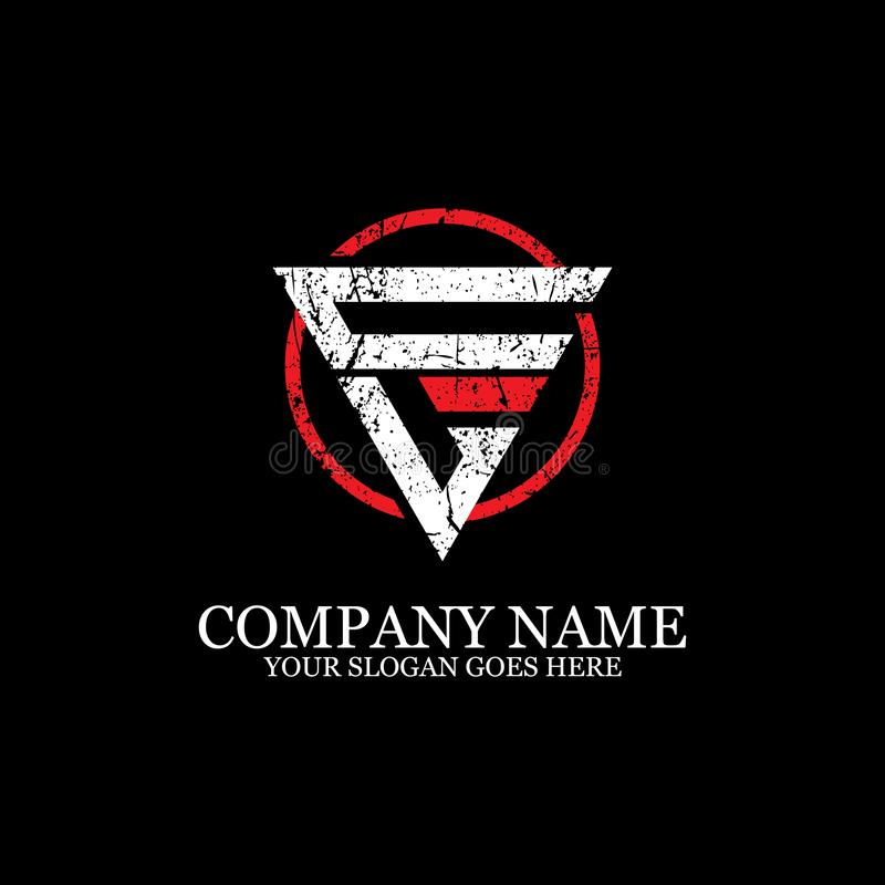 Inicial de la inspiración del diseño del logotipo de la letra del CL, del deporte y de la plantilla del logotipo de la aptitud stock de ilustración
