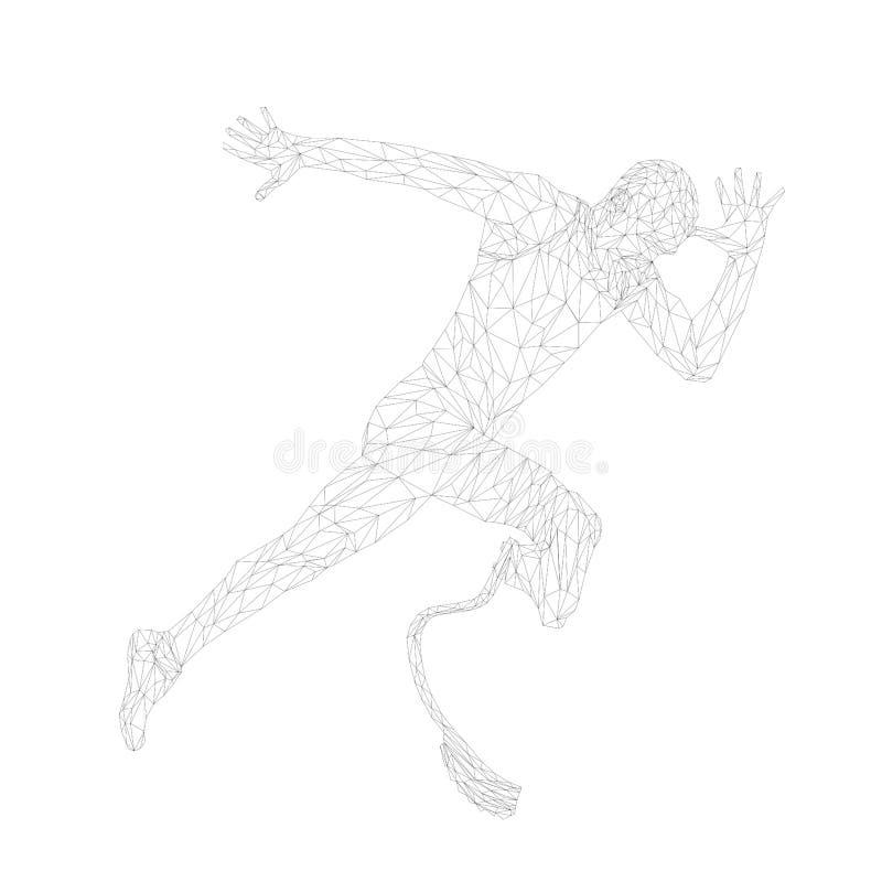 Iniciar execução do runner desativado ilustração do vetor