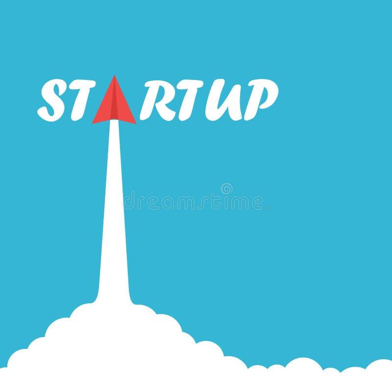 Iniciar Levantamento de foguete do empresário Conceito de negócio ilustração stock