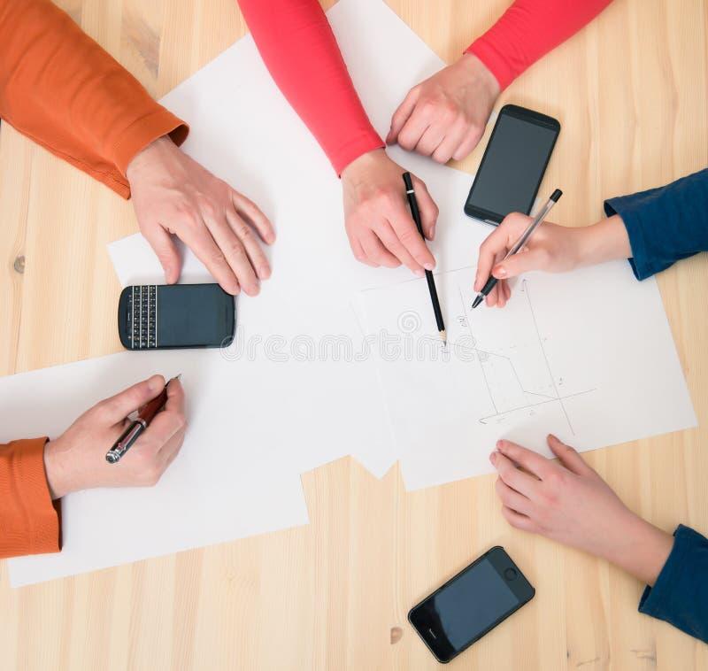 Inicio Co de la unidad de Team Teamwork Togetherness Community Connection foto de archivo