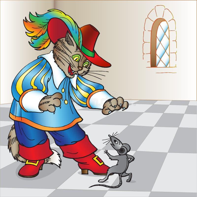 inicjuje kot bajkę ilustracji