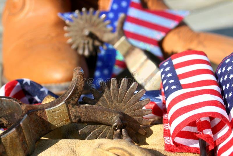 inicjuje ostroga patriotycznego temat zdjęcia stock