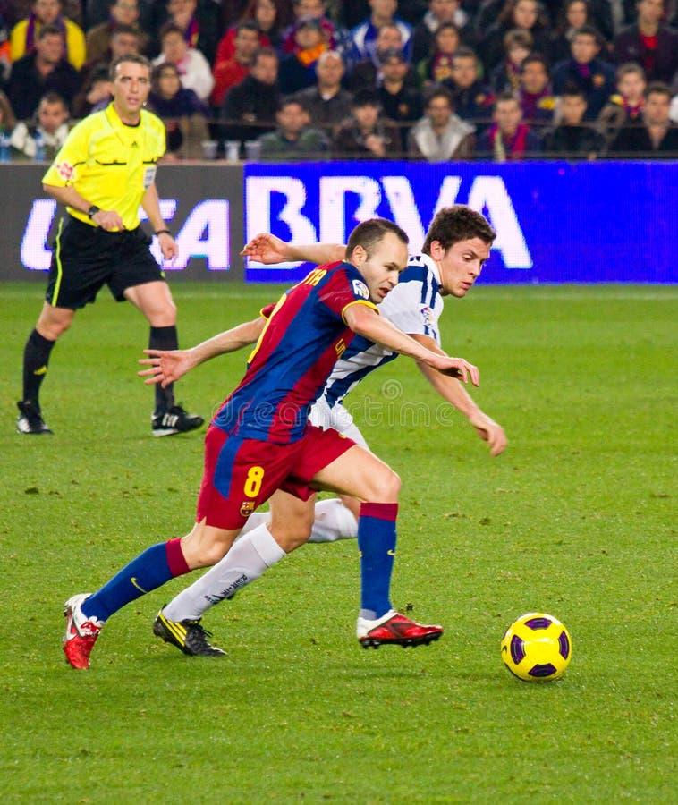 Iniesta (FC Barcelona) foto de archivo libre de regalías