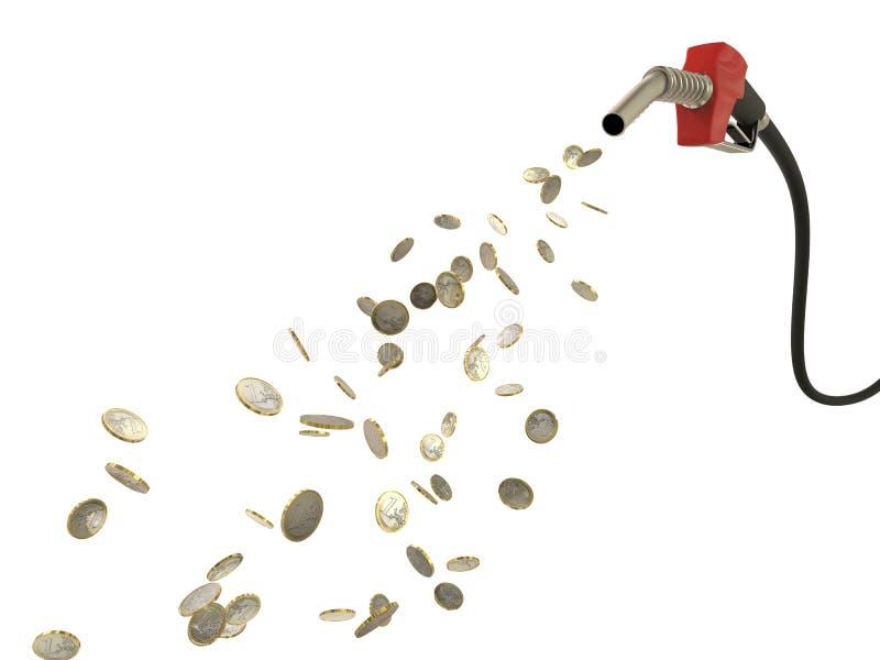 Iniettore che versa le monete di EUR royalty illustrazione gratis