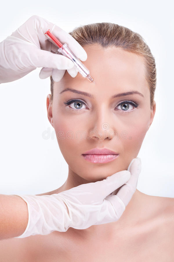 Iniezione cosmetica del botox fotografia stock libera da diritti
