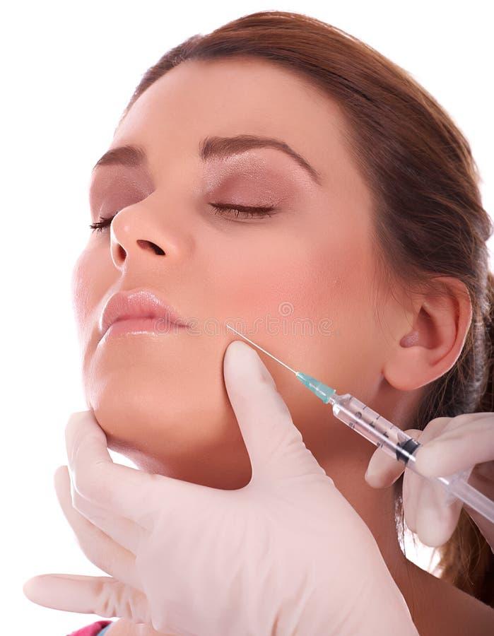 Iniezione di Botox immagine stock