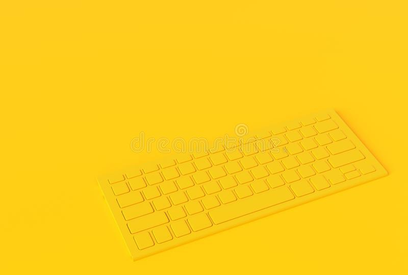 Inimal concept van de toetsenbord het gele kleur vector illustratie